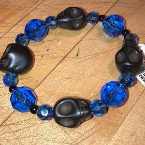 Jewelry - ⚜️Skeleton Head Beaded Braclet